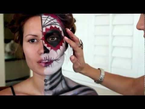 Dia De Los Muertos Halloween Make Up Tutorial (Part1)