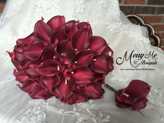 Burgundy Bouquet Package Fall Bouquet Package by MerryMeBouquets