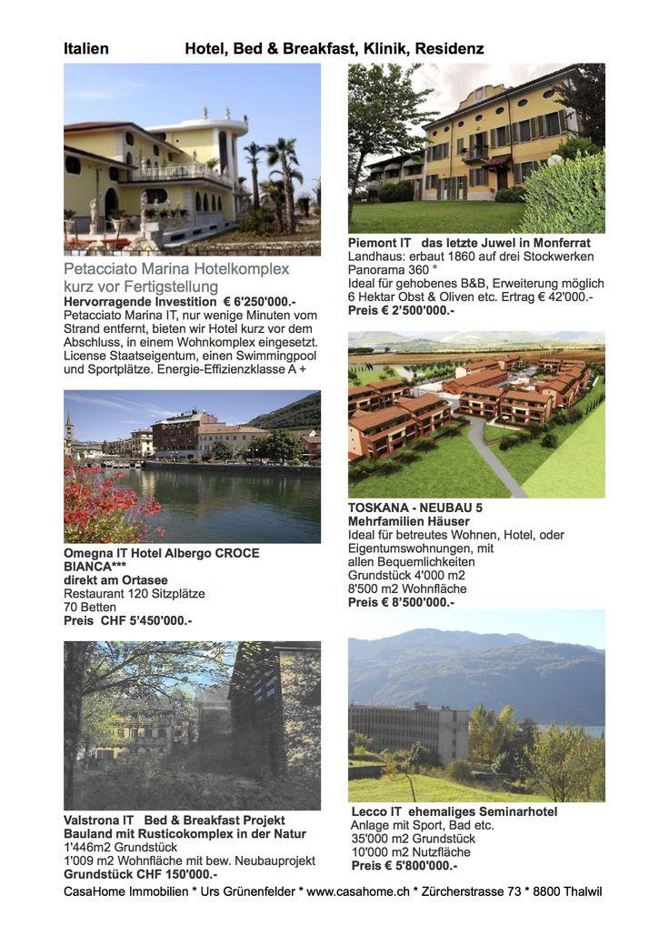 Investment in Immobilien aus Italien, CasaHome Immobilien AG Schweiz ist Ihr Partner für die Vermittlung.