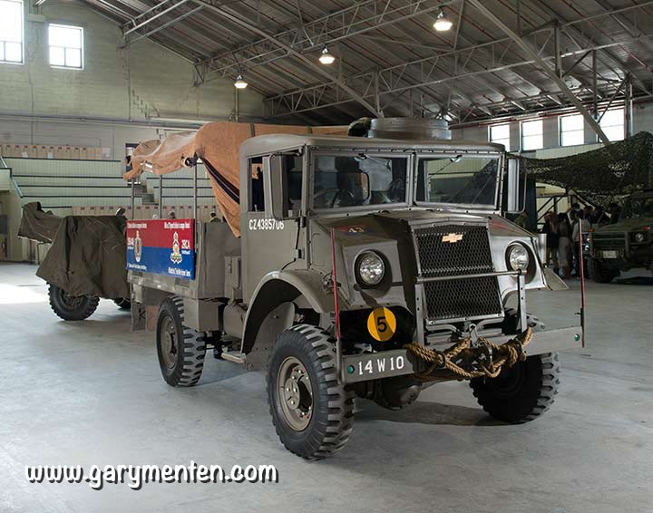 Chevrolet Canadian Military Pattern Truck, belonging to 3rd Montreal Field Battery, (3BAM) in Cote-des-Neiges Armoury.