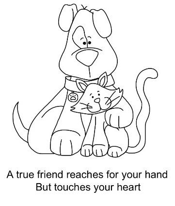 perro y gato. En el blog hay mas imagenes chulas para colorear.