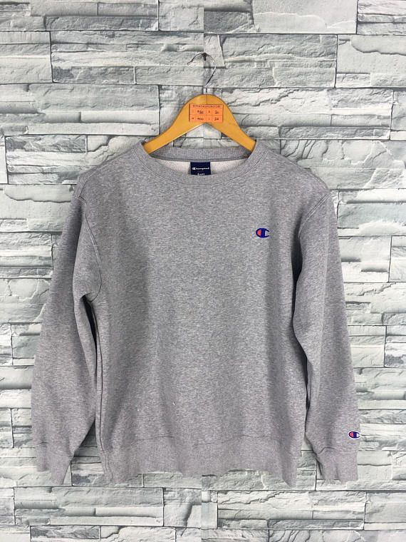 e7330652c131 Vintage CHAMPION Jumper Sweatshirts Ladies Small 80s Champion Usa  Sportswear Champion Crewneck Gray Sweaters Pullover Size S PLEASE ASK ANY  QUESTION BEFORE ...