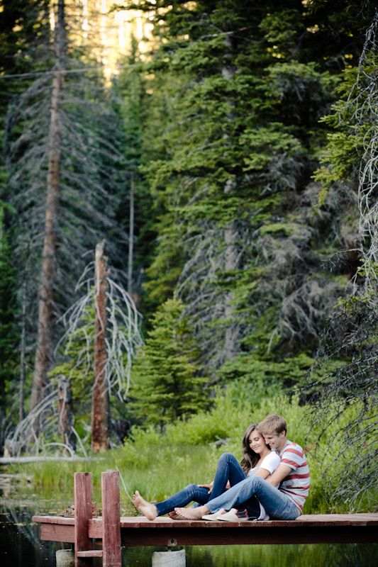 Love how the outdoors are encompassed in the engagement shot!