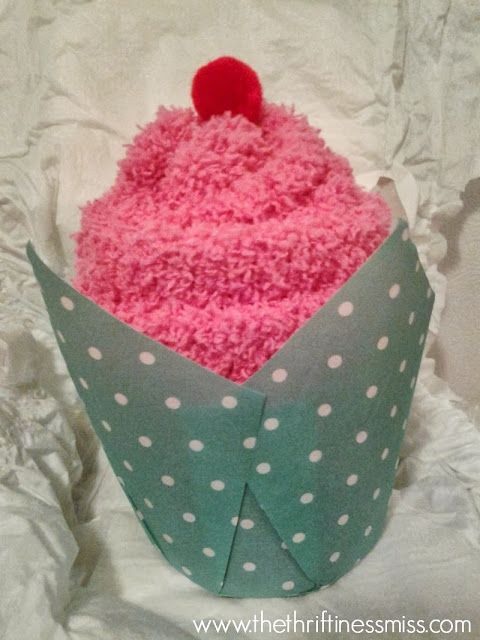 Sock Cupcakes -- DIY Baby Shower Game Prize or favor ...