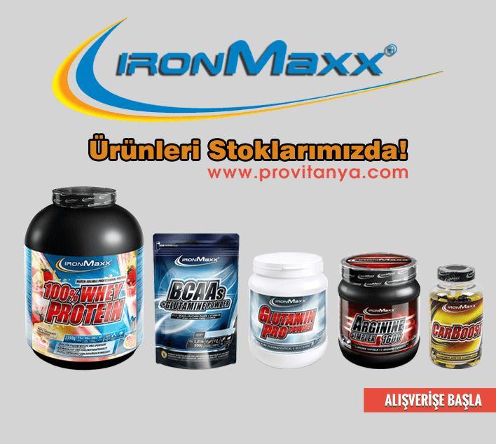 Alman markası ironmaxx ürünleri stoklarımızda!