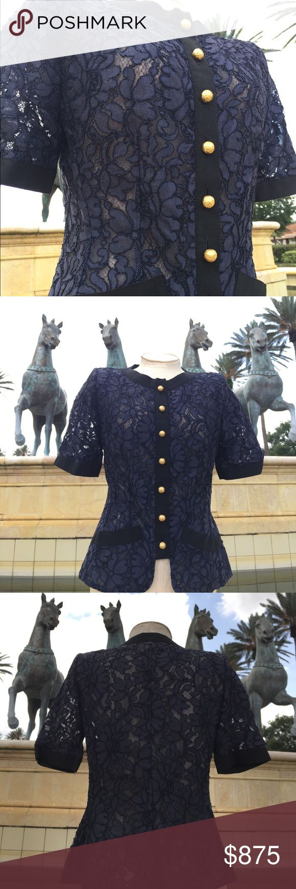 Vintage Yves Saint Laurent rive gauche blouse Absolutely one of a kind! Size 38 bought in Paris. Yves Saint Laurent Tops