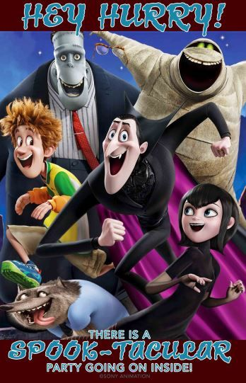 Hotel Transylvania 2 party decorations welcome sign                                                                                                                                                     More