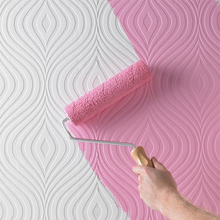 Patterned paintable wallpaper - how fun would that be?!??