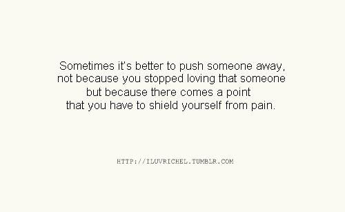 i pushed him away