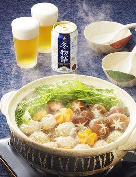 ふんわり鶏つみれと水菜の鍋