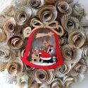 Karácsonyi mese a rénszarvasról -könyv ajtódísz - karácsony, ajándék, koszorú, advent, Karácsonyi, adventi apróságok, Dekoráció, Otthon, lakberendezés, Karácsonyi dekoráció, Vannak olyan könyvek, melyekben a legjobb részek a fedő- és a hátlap.(Charles Dickens)  Pontosan ily..., Meska