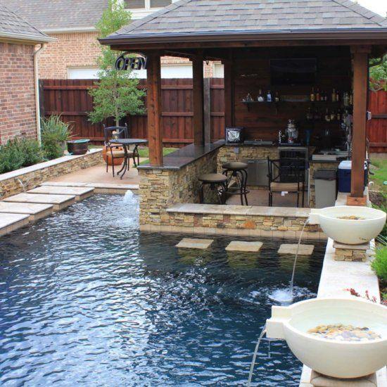 33 Mega-impressive swim-up pool bars built for entertaining! (Image Courtesy of…