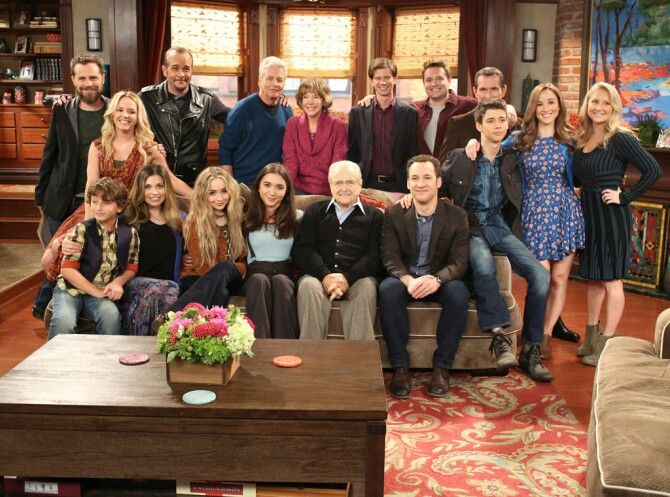 The cast of Boy Meets World and Girl Meets World reunion for Girl Meets World series finale.