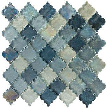 Pretty glass arabesque tile for backsplash