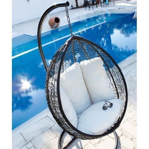 LOVEUSE SUSPENDUE MERENGUE - Achat / Vente chaise - fauteuil jardin LOVEUSE SUSPENDUE MERENGUE - Cdiscount
