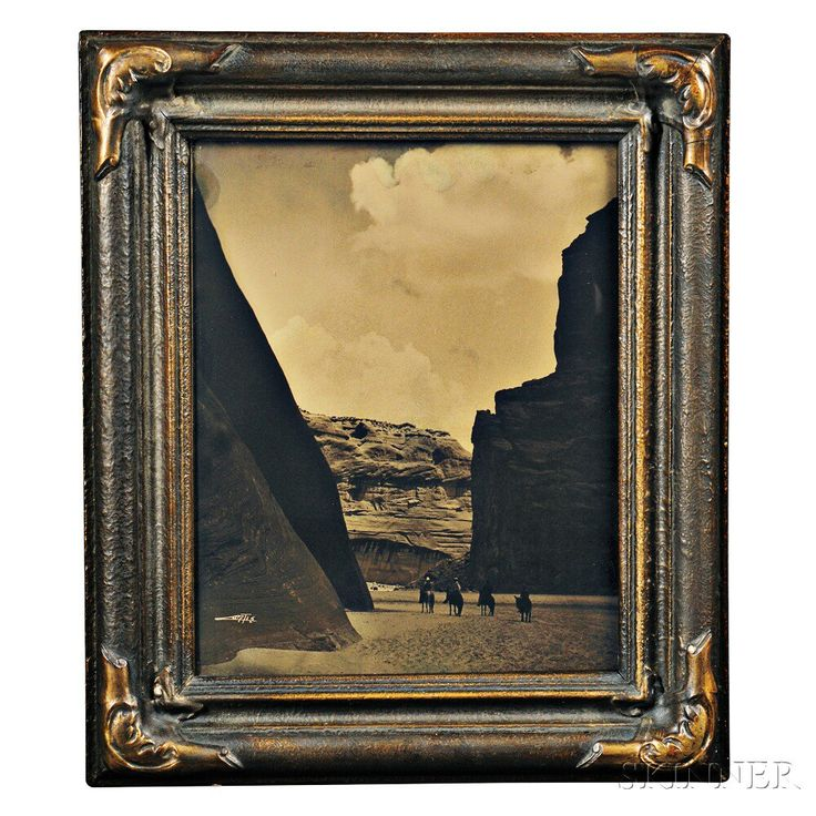 """Orotone by Edward Curtis (1868-1952), """"Canyon del Muerto,""""   Auction 2893B   Lot 249   Sold for $6,150"""
