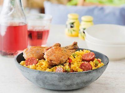 Paella met kip en chorizo  Recepten | Ekoplaza | De Biologische Supermarkt van Nederland