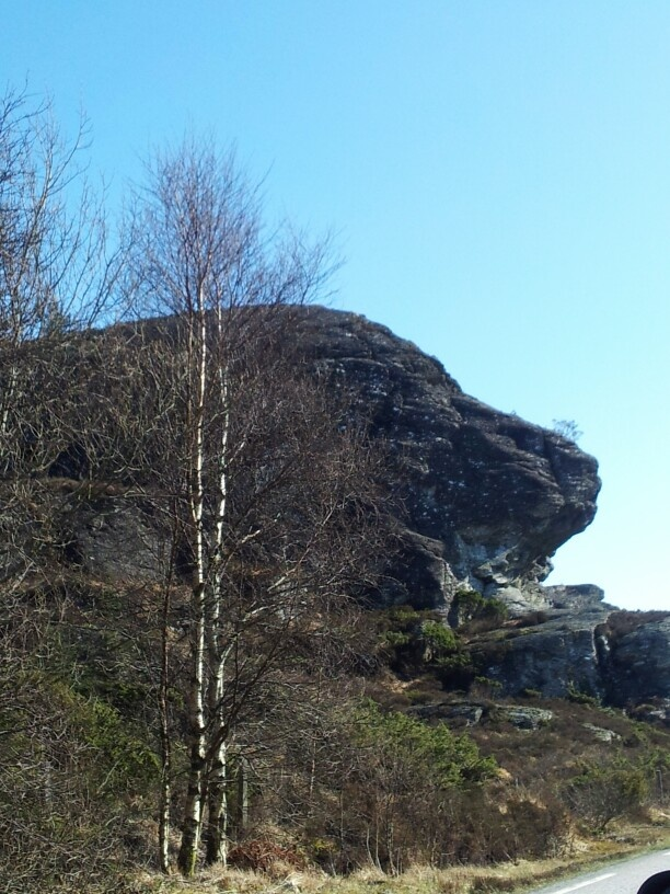 'Lion's Jaw' nature's own sculpture in Bømlo, on the way towards Langevaag. Norway