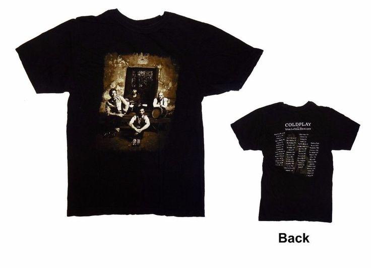 Coldplay Shirt Women's S Small Viva La Vida Tour 2009 Tee 34 Inch Bust #Coldplay #GraphicTee