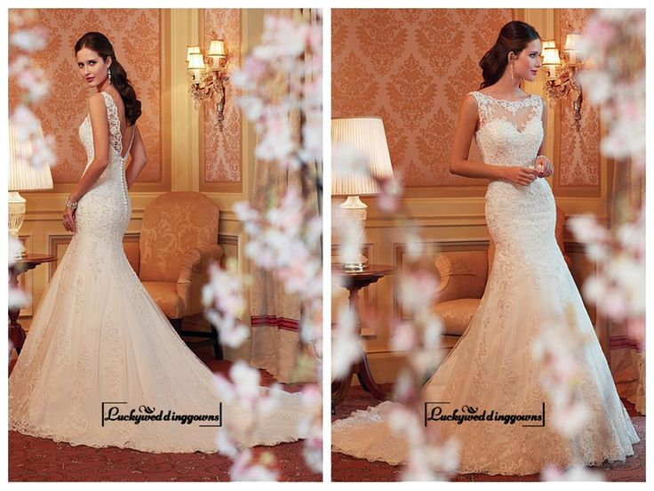 Alluring Tulle & Satin Jewel Neckline Natural Waistline Mermaid Wedding Dress http://www.ckdress.com/alluring-tulle-satin-jewel-neckline-natural-waistline-mermaid-wedding-dress-p-1538.html  #wedding #dresses #party #Luckyweddinggown #Luckywedding #design #style #weddingdresses #bridaldresses #love #me #cute #beautiful #girl #shopping #lovely #clothes #instagood #follow #fashion