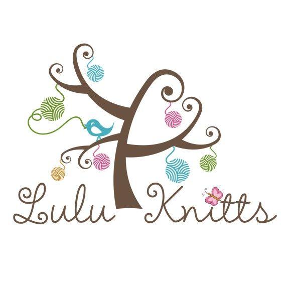 Knitting Logo Ideas : Watercolor logo design branding package