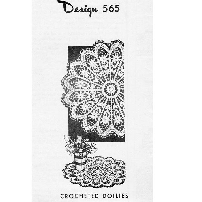 Flower Crochet Doily Pattern Design 565   carpetas   Pinterest   Carpeta