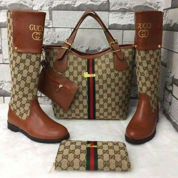af0c3dae8e2f7 I love the whole set I want it... | marsha | Gucci boots, Bags ...