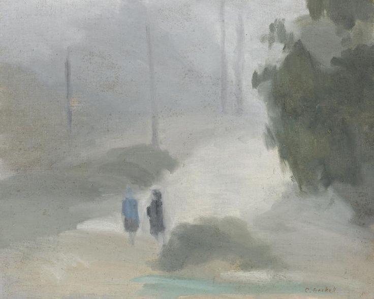 blastedheath:  Clarice Beckett (Australian, 1887-1935), Rainy Morning, c. 1930. Oil on board, 38 x 46.5cm.