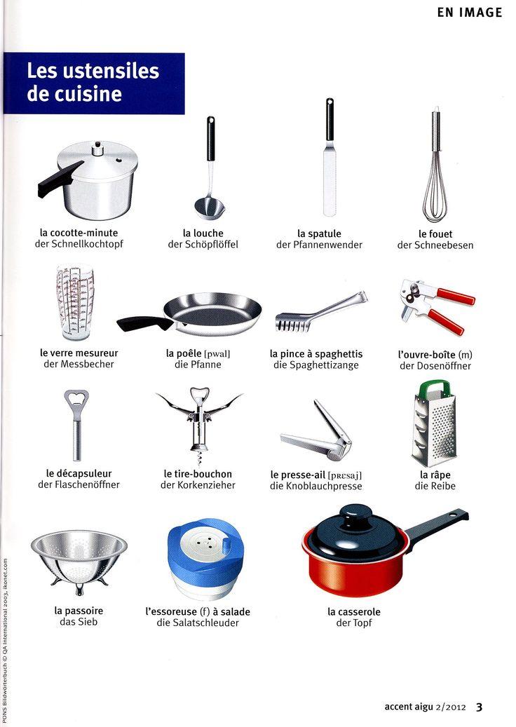 Best 25 les ustensiles de cuisine ideas on pinterest - Ustensile de cuisine commencant par p ...