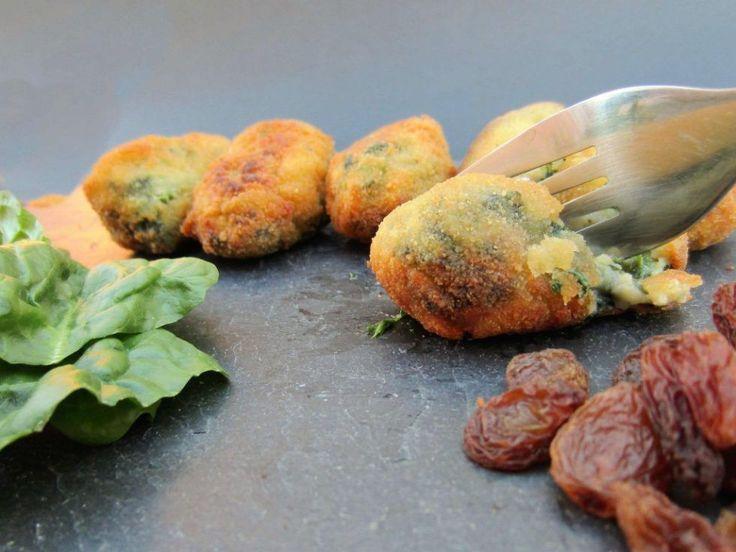 croquetas veganas de espinacas y pasas