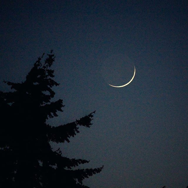 A sliver of the moon tonight.
