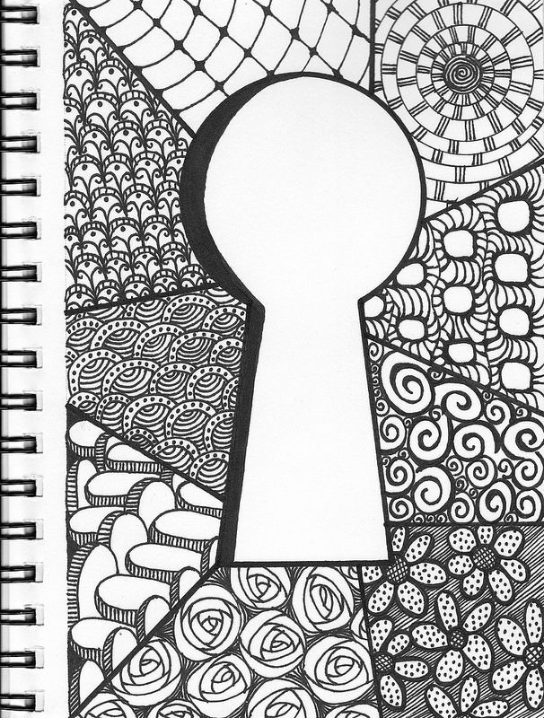 Keyhole Zentangle Doodle Notebook All You Need Now Is The Key