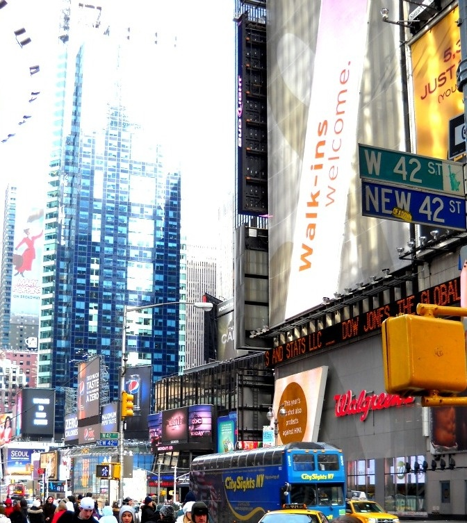 Times Square in New York City 42nd Street. Want to go there soooo bad!