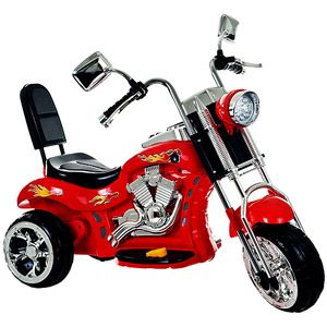 Lil' Rider Red Rocking 3-Wheel Chopper Motorcycle 6-Volt Battery-Powered Ride-On