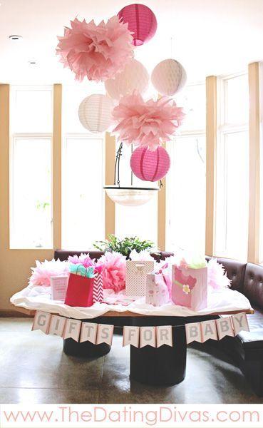 Pretty In Pink Baby Shower Theme - LOVE! Super dreamy!