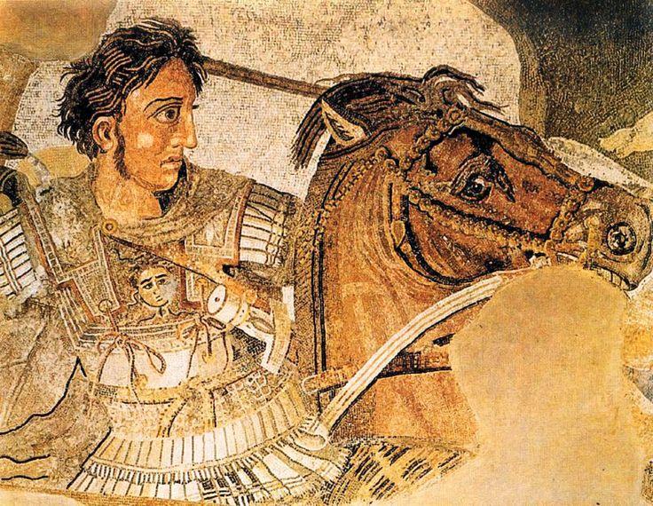 MOSAICO. Alejandro en Issas. Anónimo Romano. Museo Arqueológico Nacional. Nápoles. Italia.