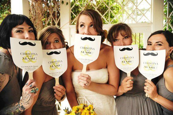 mustache wedding program