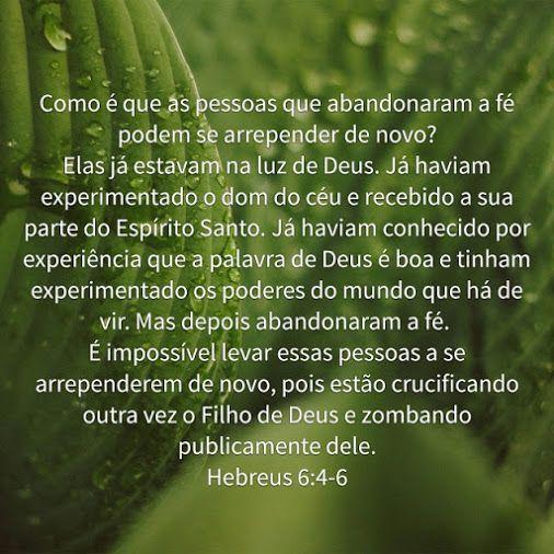 Hebreus 6:4-6