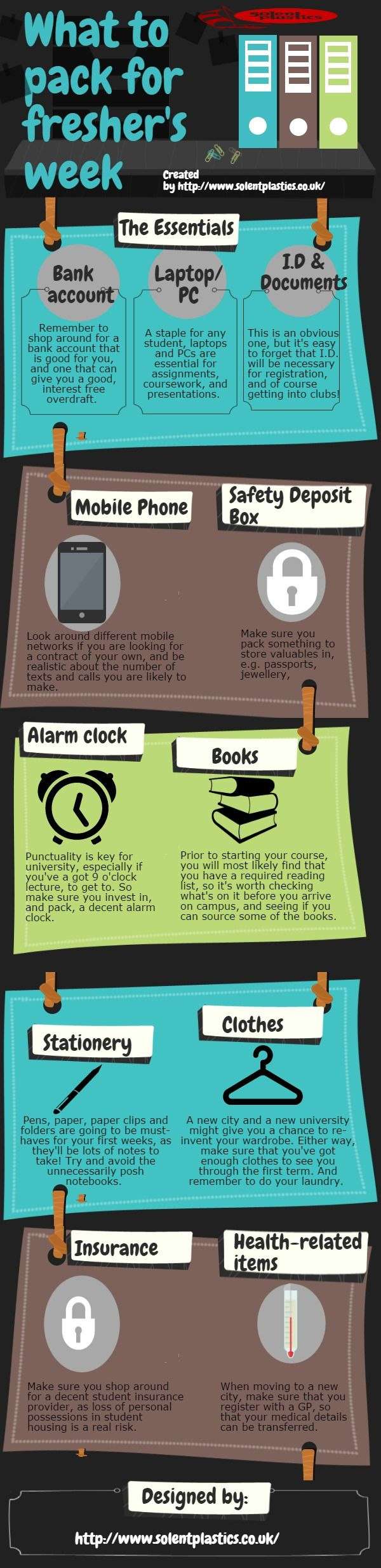What to Pack for Fresher's Week #infographic #Education #University