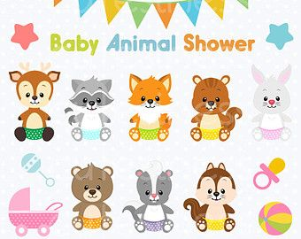 Jungle Animal Clipart Baby Animals Clipart Safari by Cutesiness