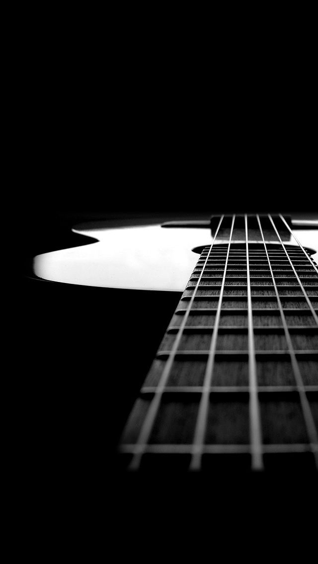 Black And White Guitar. Music Instrument IPhone Wallpapers