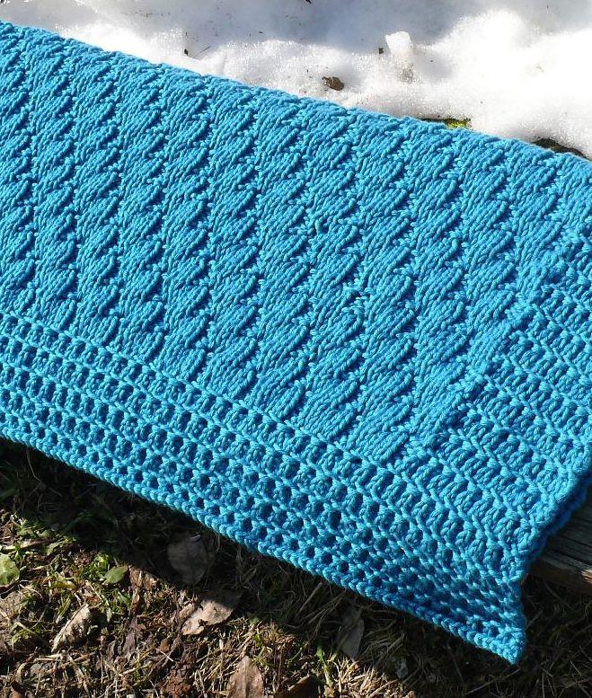 Free Knitting Pattern for Baby Blanket Nomad | Blanket ...