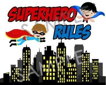 Superhero Classroom Rules (Super Hero Theme)
