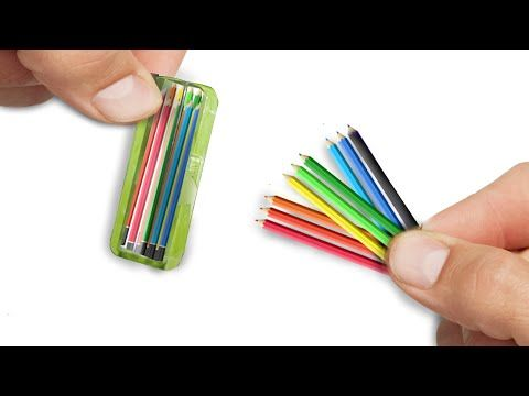 Miniature Colored Pencils DIY - Dollhouse Tutorial - YouTube
