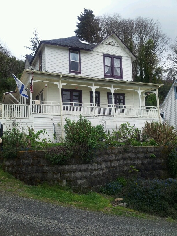 We visited the house where The Goonies movie was filmed in Astoria, OR. :