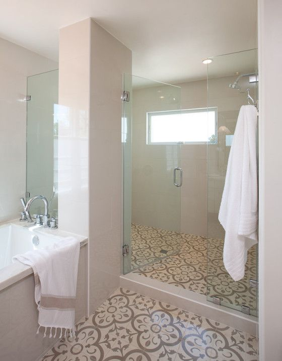 Jaimee Rose Interiors Used Our Normandy Cement Tile In Her Renovation Of This Master Bathroom