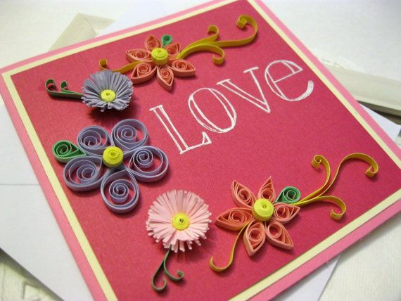 74 best Mothers Day Quilling Card images on Pinterest  Paper