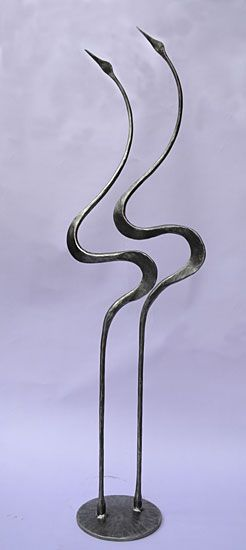 interior sculpture of storks in a contemporay style by Paul Margetts
