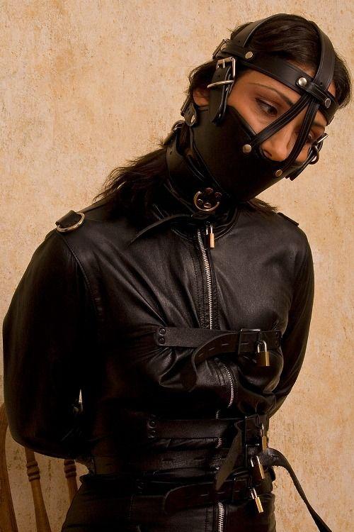 Leather Straitjacket Bondage 69