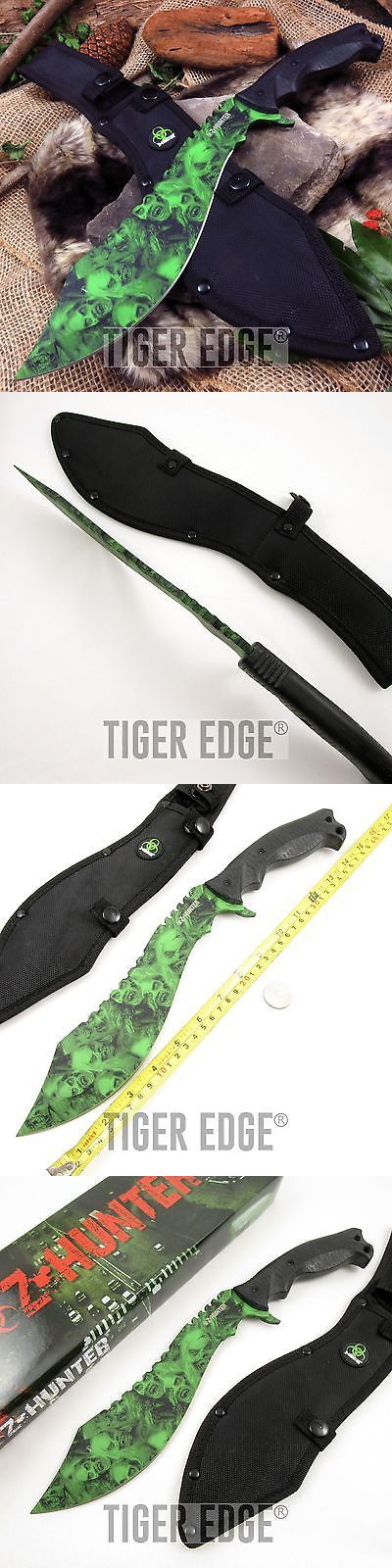 Other Camping Knives and Tools 100237: New! 15 Z-Hunter Green Zombie Skull Heavy Tactical Machete Fixed-Blade Knife -> BUY IT NOW ONLY: $31.27 on eBay!